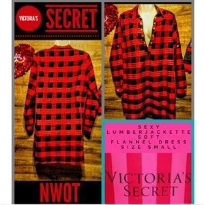 Victoria's Secret Flannel Dress Size Small Nwot